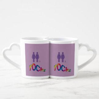 紫色のスタイルのレズビアンのマグ ペアカップ