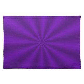 紫色のスターバストのランチョンマット ランチョンマット