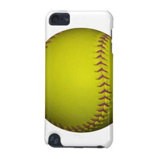 紫色のステッチとの黄色いソフトボール iPod TOUCH 5G ケース
