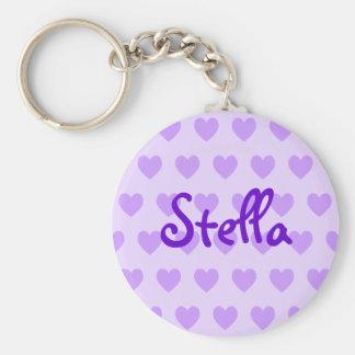紫色のステラ キーホルダー