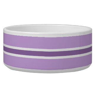 紫色のストライプで大きいペットボウル