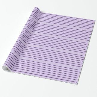 紫色のストライプのな包装紙 ラッピングペーパー