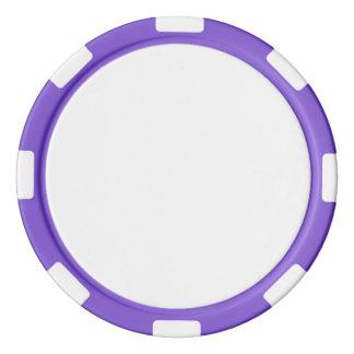 紫色のストライプのな端が付いているポーカー用のチップ ポーカーチップ