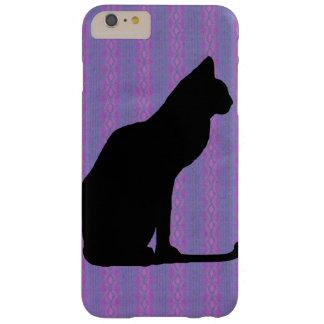 紫色のストライプの黒猫のシルエット BARELY THERE iPhone 6 PLUS ケース