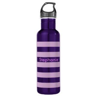 紫色のストライプ ウォーターボトル