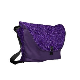 紫色のスパンコールの効果の人力車のメッセンジャーバッグ メッセンジャーバッグ