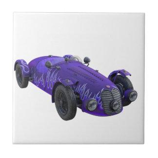 紫色のスポーツ・カー タイル