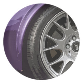 紫色のスポーツ プレート