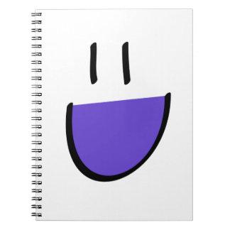 紫色のスマイリーフェイスのノート(環状) ノートブック