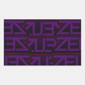 紫色のゼウスのデザイン 長方形シール