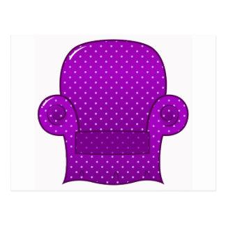 紫色のソファーのロマンスの版 ポストカード
