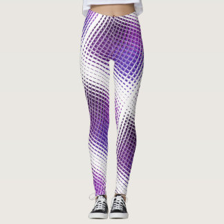 紫色のタイルを張られたレギング レギンス