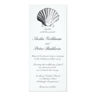 紫色のタケは結婚式招待状を殻から取り出します 10.2 X 23.5 インビテーションカード