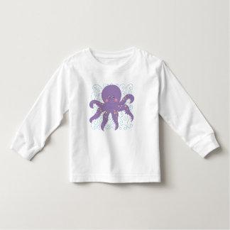 紫色のタコのTシャツおよびギフト トドラーTシャツ