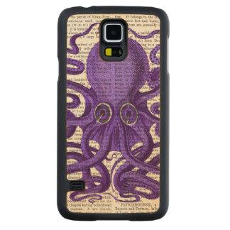 紫色のタコ CarvedメープルGalaxy S5スリムケース