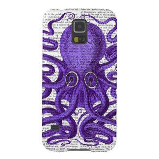 紫色のタコ GALAXY S5 ケース