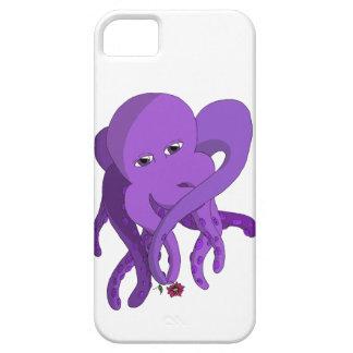紫色のタコ iPhone SE/5/5s ケース