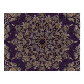 紫色のタペストリーNo5 ポストカード