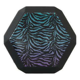 紫色のターコイズの黒のシマウマのアニマルプリントのスピーカー ブラックBluetoothスピーカー