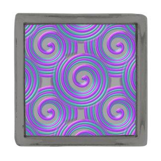 紫色のターコイズはラペルピン螺線形になります ガンメタルラペルピン