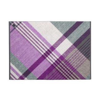紫色のタータンチェック格子縞 iPad MINI ケース