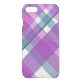 紫色のタータンチェック iPhone 8/7 ケース