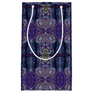 紫色のダイヤモンドのギフトバッグ スモールペーパーバッグ