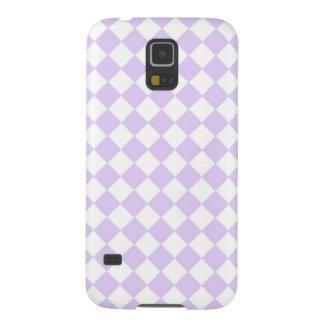 紫色のダイヤモンドのチェック模様のパターン GALAXY S5 ケース