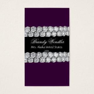 紫色のダイヤモンドのページェントの名刺 名刺