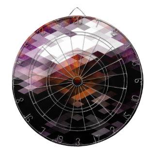紫色のダイヤモンドのモダンなデザイン ダーツボード