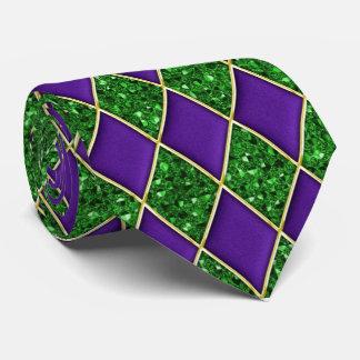 紫色のダイヤモンドの緑のスパンコールパターン謝肉祭のタイ タイ