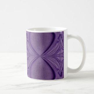 紫色のダイヤモンド コーヒーマグカップ