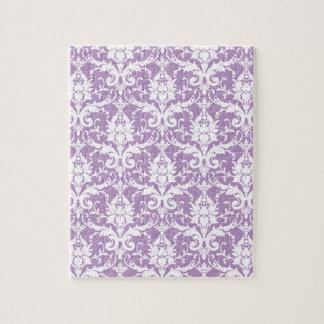 紫色のダマスク織の春2013の上品のポップ・アートのな色 ジグソーパズル