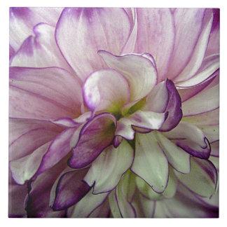 紫色のダリアのセラミックタイル タイル