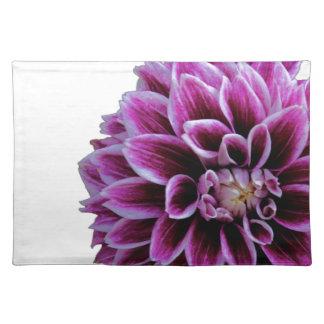 紫色のダリアのランチョンマット ランチョンマット