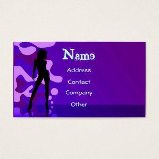 紫色のダンサー 名刺