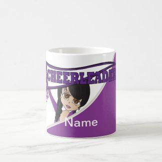 紫色のチアリーダーの女の子 コーヒーマグカップ
