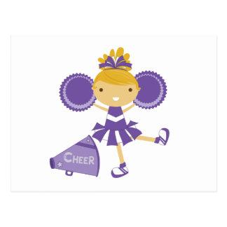 紫色のチアリーダー ポストカード