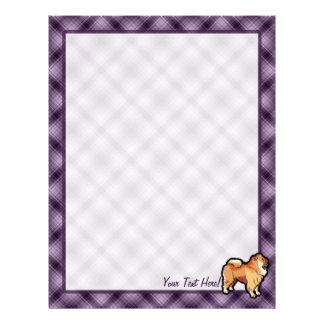紫色のチャウチャウ レターヘッド