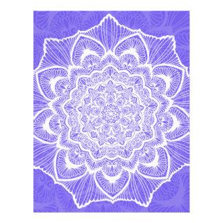 紫色のチャクラの花、boho、ニューエイジ、スピリチュアル レターヘッド