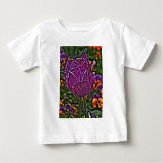紫色のチューリップ2 ベビーTシャツ