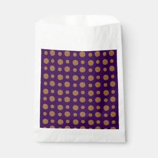 紫色のチョコチップクッキーパターン フェイバーバッグ