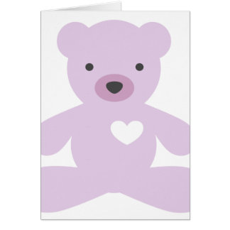 紫色のテディー・ベア カード