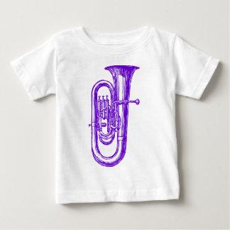 紫色のテューバ ベビーTシャツ