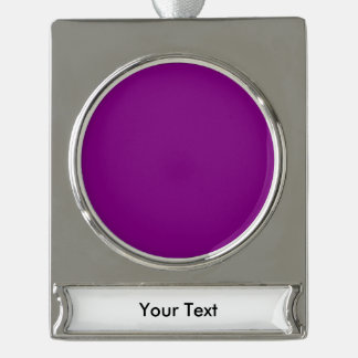 紫色のテンプレートは写真および文字とカスタマイズ シルバープレートバナーオーナメント