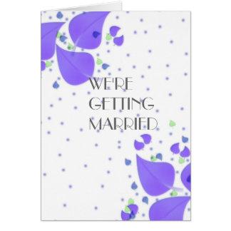 紫色のテーマ ノートカード