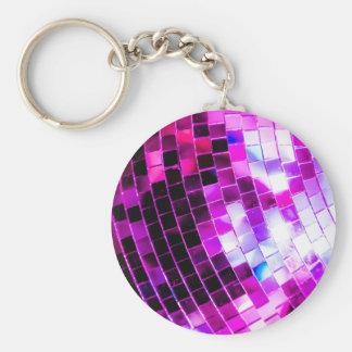 紫色のディスコの球 キーホルダー