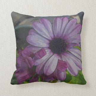 紫色のデイジーの枕 クッション