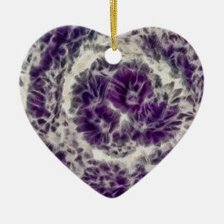 紫色のデイジーの渦巻 セラミックオーナメント