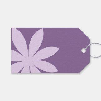 紫色のデイジーの結婚式の引き出物のラベル ギフトタグ